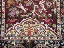 alfombra pakistani despues de restauración de colores