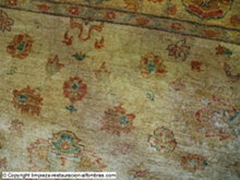 alfombra pakistani zigler después de limpieza