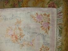 alfombra de seda artificial despues del lavado