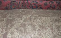 despolvorear una alfombra antigua persa sarough